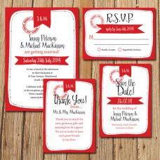 Backyard Bride   Invitation Set
