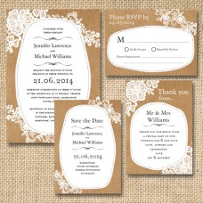 Paper & Lace | Invitation Set
