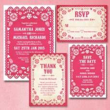 Mexican Bunting | Invitation Set